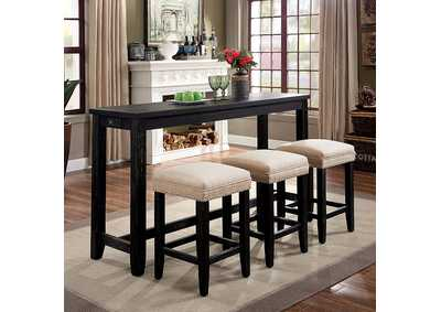 Image for Caerleon 4 Piece Counter Height Dining Set
