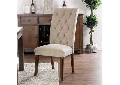 Image for Sania III Upholstered Beige Side Chair (Set of 2)