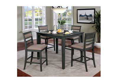 Image for Fafnir Gray 5 Piece Counter Table Set