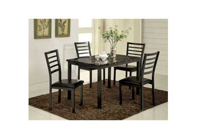 Image for Colman Black Dining Table