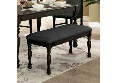 Siobhan II Dark Gray Upholstered Bench