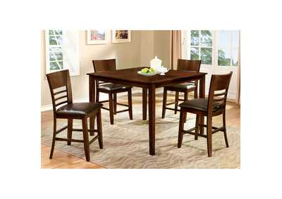 Image for Hillsview II Brown 5 Piece. Counter Table Set