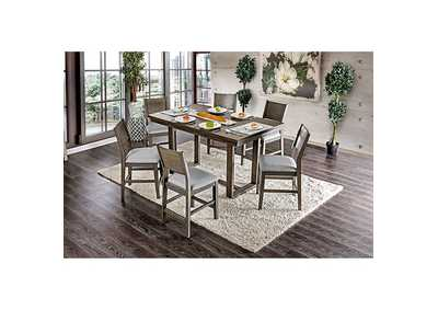 Image for Anton II Gray Counter Height Table w/6 Chairs
