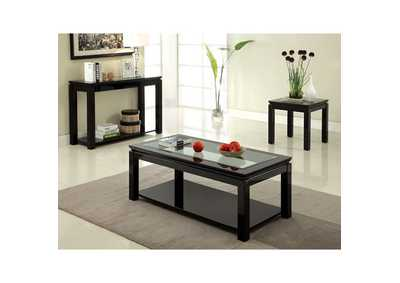 Image for Venta Black Lacquer End Table w/Open Shelf