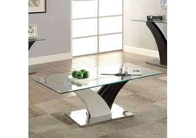 Sloane White and Gray Coffee Table