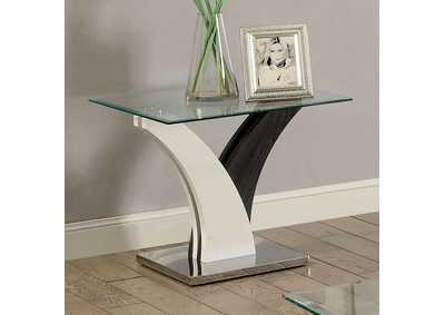 Sloane White and Gray End Table
