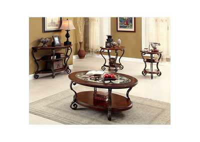 Image for May Brown Ornate End Table w/& Shelf