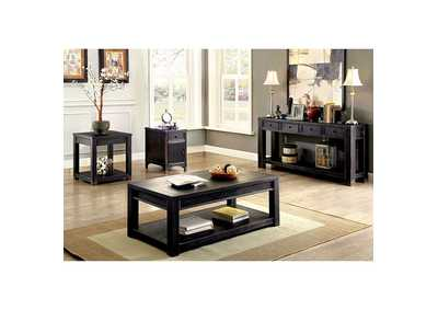 Image for Meadow Antique Black Coffee Table w/Shelf
