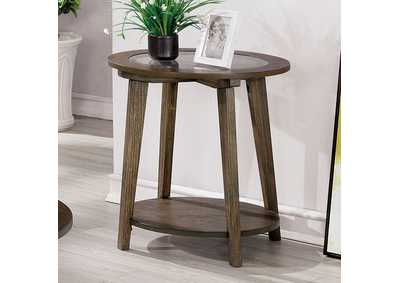 Uriel Brown End Table