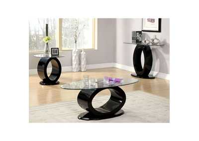 Image for Lodia lll Black Lacquer Coffee Table w/O-Shaped Base
