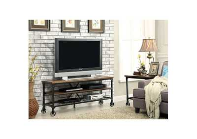 Image for Ventura ll 54' Oak TV Console w/Caster