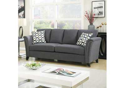 Image for Campbell Gray Sofa w/Accent Pillows