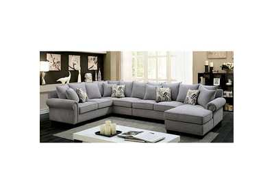 Skyler II Gray Sectional