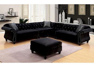 Image for Jolanda II Black Sectional