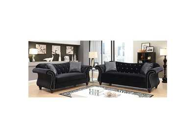 Jolanda I Black Sofa and Loveseat