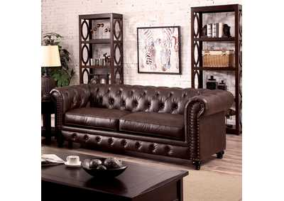 Image for Stanford Brown Leatherette Sofa