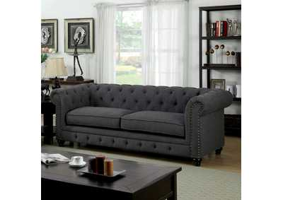 Image for Stanford Dark Grey Sofa W/ Nailhead Accent