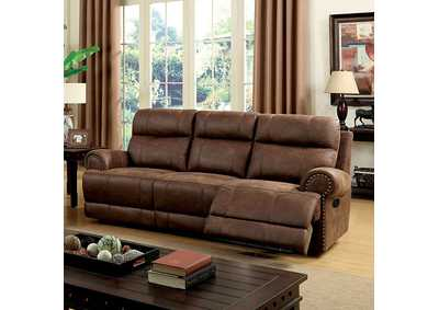 Kellie Brown Sofa w/2 Recliners
