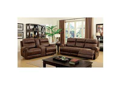 Kellie Brown Sofa and Loveseat w/4 Recliners