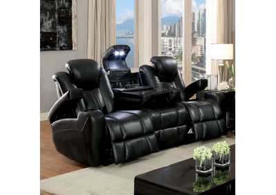 Zaurak Dark Gray Sofa w/2 Recliners