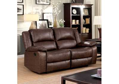 Image for Kris Brown Loveseat w/2 Recliners