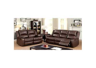 Image for Kris Brown Sofa and Loveseat w/4 Recliners