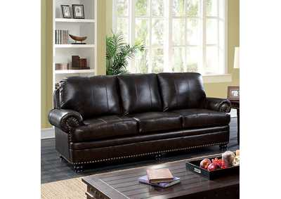 Reinhardt Dark Brown Sofa