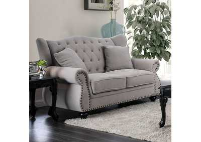 Ewloe Gray Loveseat