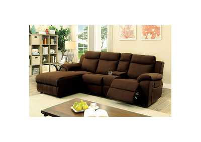 Kamryn Brown Sectional w/Console