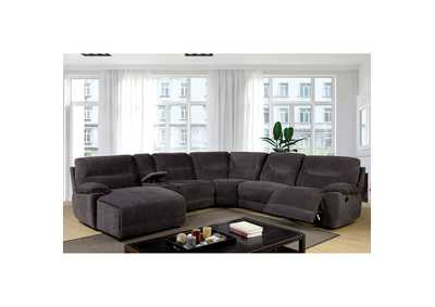 Karlee II Gray Sectional w/Console