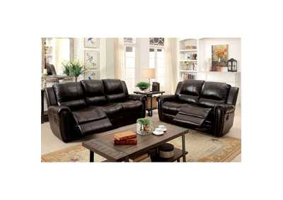 Image for Foxboro Brown Leather Sofa
