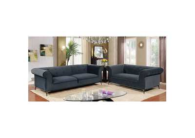 Image for Gresford Navy Stationary Sofa