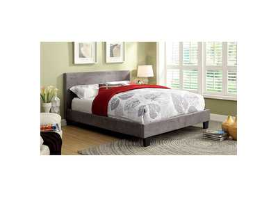 Image for Winn Park Gray Upholstered Eastern King Platform Bed
