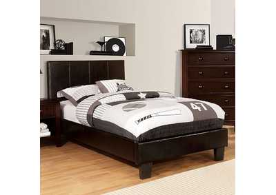 Image for Winn Park Espresso Upholstered Eastern King Platform Bed