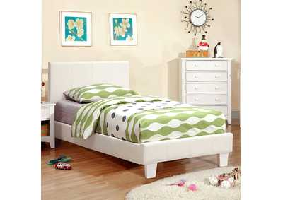 Image for Winn Park White Upholstered Full Platform Bed
