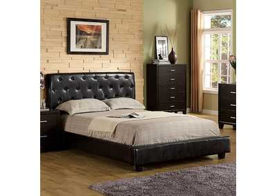 Image for Concord Espresso Twin Upholstered Platform Bed