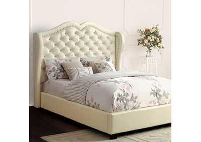 Image for Monroe Ivory Eastern King Platform Bed