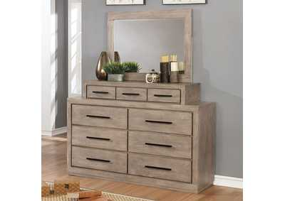 Image for Oakburn Light Brown Dresser w/Jewelry Box