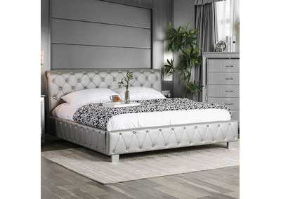 Image for Juilliard Silver Upholstered Queen Bed