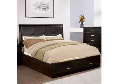 Enrico III Espresso Queen Platform Storage Bed