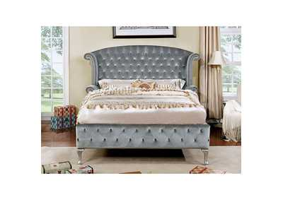 Image for Alzir Gray Upholstered Queen Bed