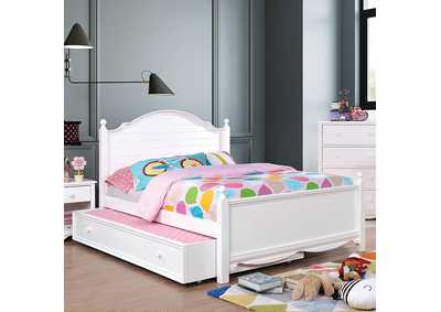 Image for Dani White Full Platform Bed (Trundle Not Included)