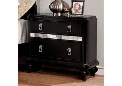 Ariston Black Nightstand,Furniture of America