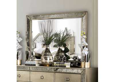 Image for Loraine Silver Mirror w/Antique Mirror Trim