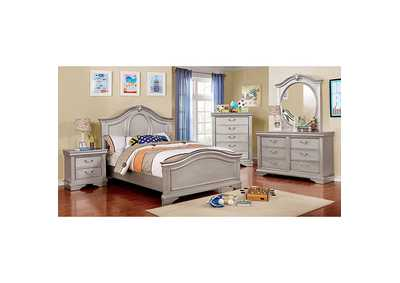 Image for Claudia Silver Gray Twin Panel Bed