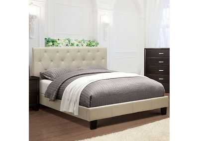 Image for Leeroy Ivory California King Platform Bed