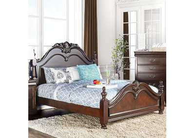 Image for Mandura Cherry Eastern King Poster Platform Bed