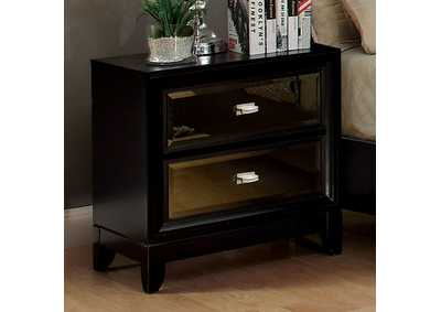 Image for Golva Black Nightstand w/Gold Mirror Panels