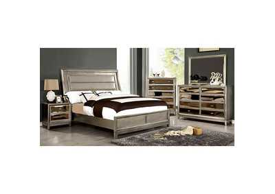 Image for Golva Silver Upholstered Platform California King Bed