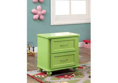 Image for Lacey Apple Green 2 Drawer Nightstand